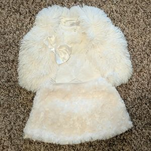 Baby girl holiday/winter outfit 3 piece
